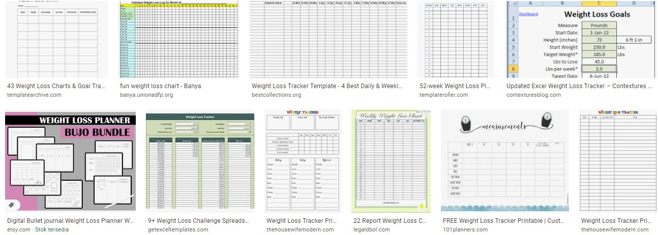 Weight Loss Challenge Chart Template